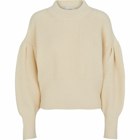 Just Female - Sophie High Neck Knit - Antique White