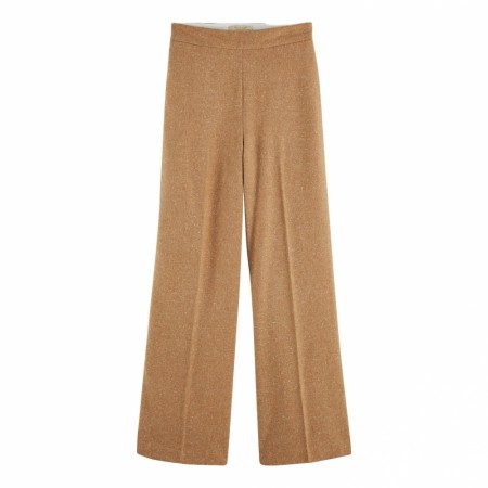 Maison Scotch - Clean Wool Wide Leg Pants - Sand Melange