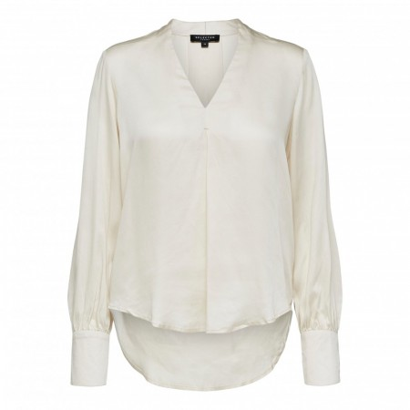 Selected Femme -  Slfquinn Ls Top B - Birch