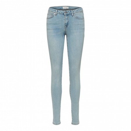 Selected Femme - Slfida Mw Casty Blue Jeans W - Light Blue Denim