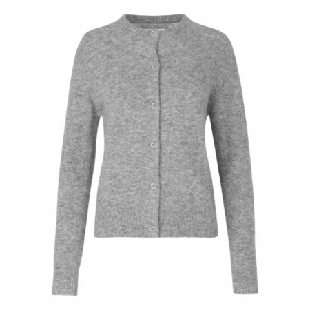 Samsøe Samsøe - Nor Short Cardigan - Grey Mel.