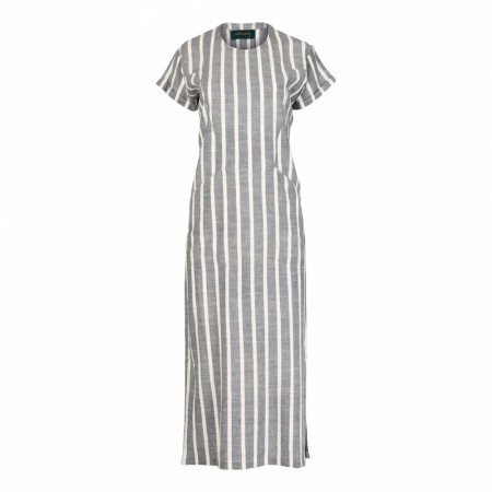 Iis Of Norway - Tora Long Linen Dress - Denim Stripe
