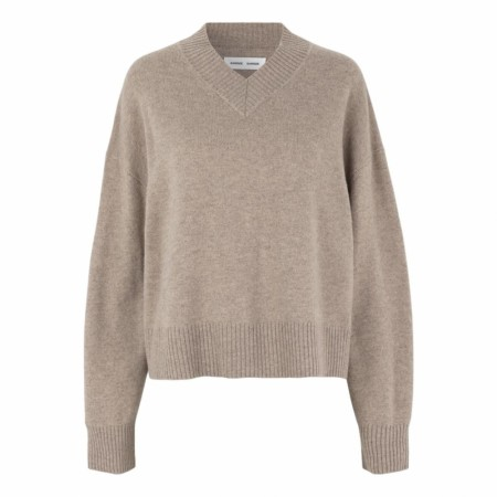 Samsøe Samsøe - Amaris V-neck - Warm Grey Mel.