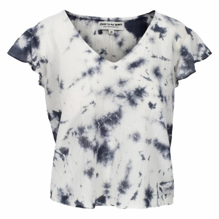Close To My Heart - White Blouse - Tye Dye