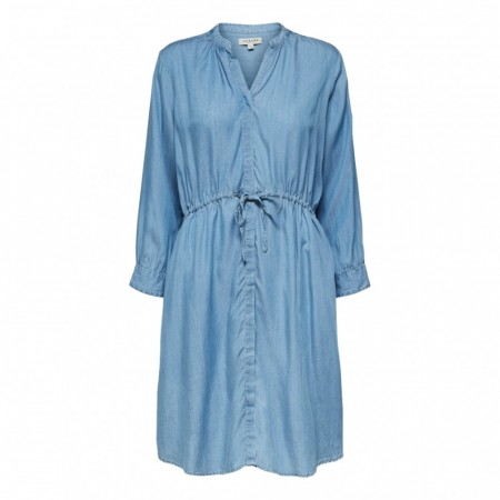 Selected Femme -  Slfmarla 7/8 Dress W - Light Blue