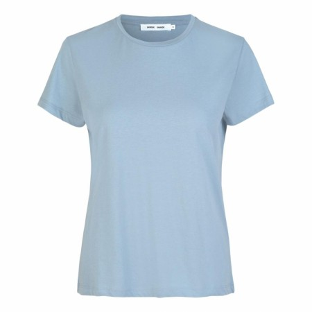 Samsøe Samsøe - Solly Tee Solid - Dusty Blue