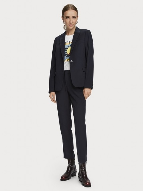 Maison Scotch - Lowry Tailored Slim Fit Pants - Navy