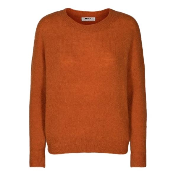 MSCH - Femme Mohair O Pullover - Apricot Orange
