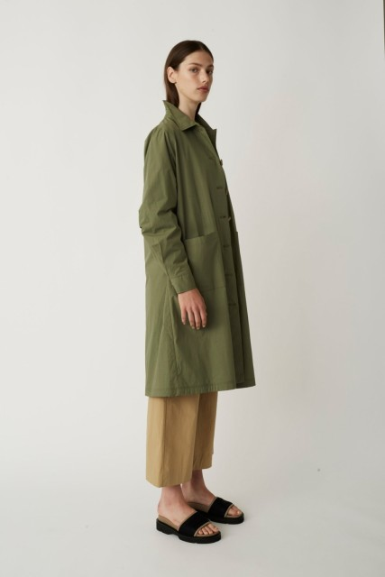 JUST - Nanita Trench Coat - Clover
