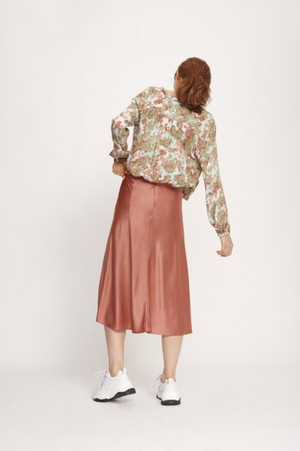 amsøe & Samsøe - Heaston Skirt 9697 - Dusty Cedar