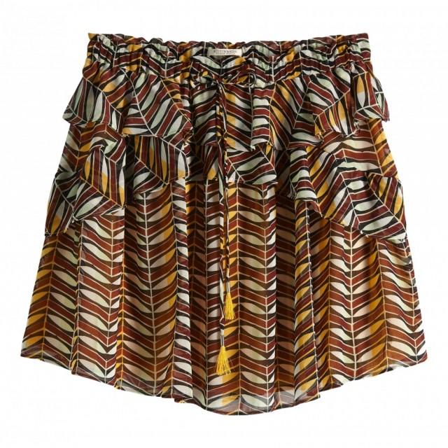 Maison Scotch - Printed Skirt With Ruffles