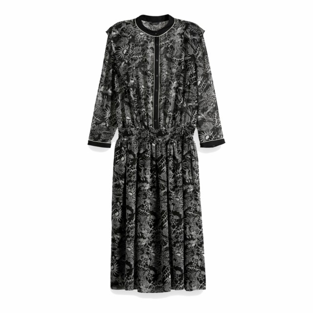 Maison Scotch - Allover Printed Sheer Dress - Black