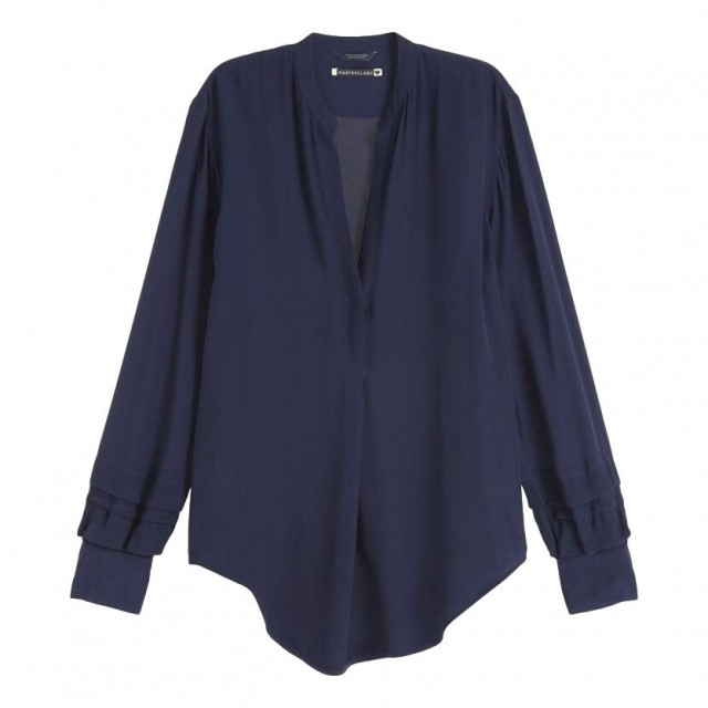 Maison Scotch - Feminine Top With Special Sleeve Detail - Blå