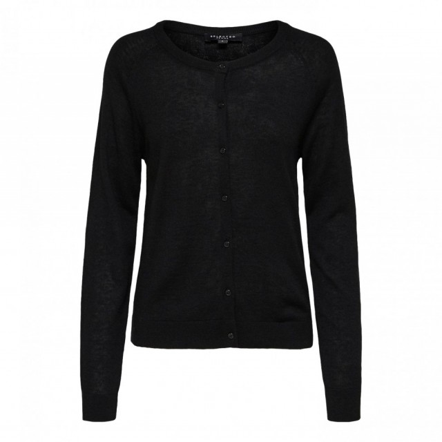Selected Femme - Slf Costa Ls Knit Cardigan - Sort