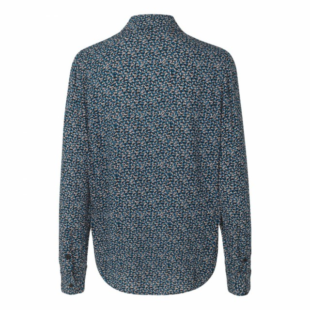 Samsøe & Samsøe - Milly Shirt Aop 7201 - Blue Twiggy