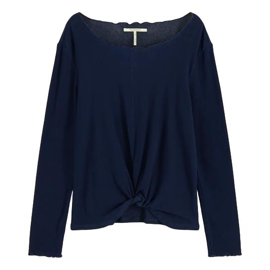 Maison Scotch - Long Sleeve Top With Knot - Marine