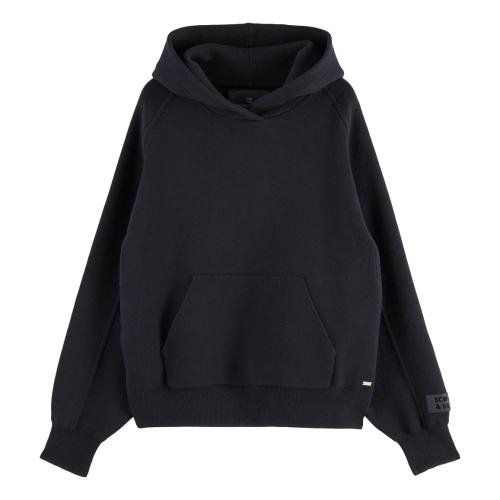 Maison Scotch - Clean Knitted Hoodie - Midnight