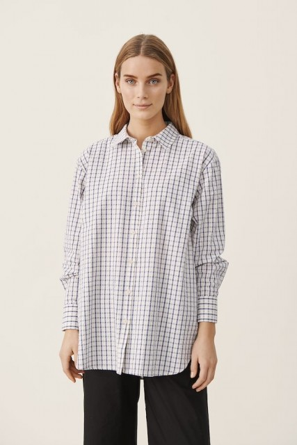Part Two - Ishma Shirt - Blue Check