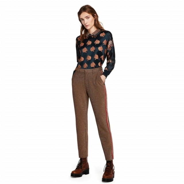 Maison Scotch - Lurex Tailored Pants - Gold
