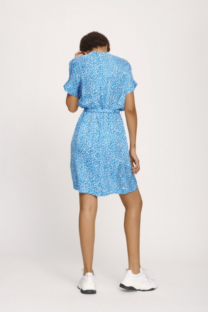 Samsøe & Samsøe - Kimberly Ss Dress Aop 8325 - Blue Buttercup