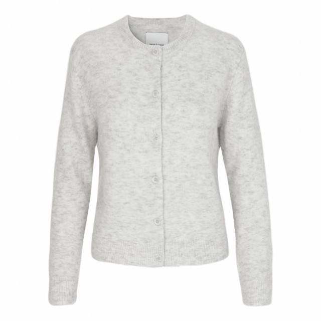 Samsøe & Samsøe - Nor Short Cardigan - White mel.