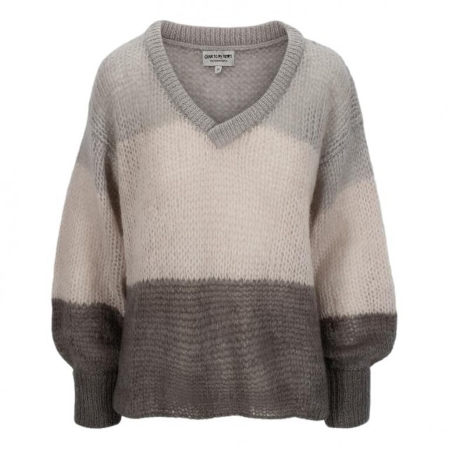Close To My Heart - Abby Sweater - Cloudy Stripe