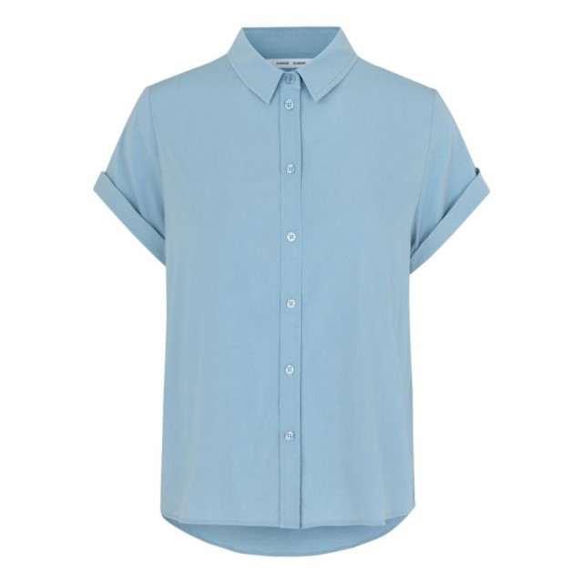 Samsøe Samsøe - Majan Ss Shirt 942 - Dusty Blue