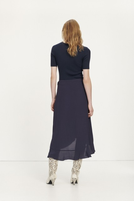 Samsøe Samsøe - Limon Wrap Skirt 10458 - Night Sky