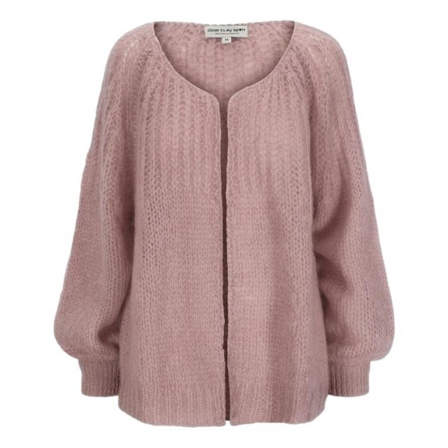 Close To My Heart - Alice Cardigan - Dust Pink