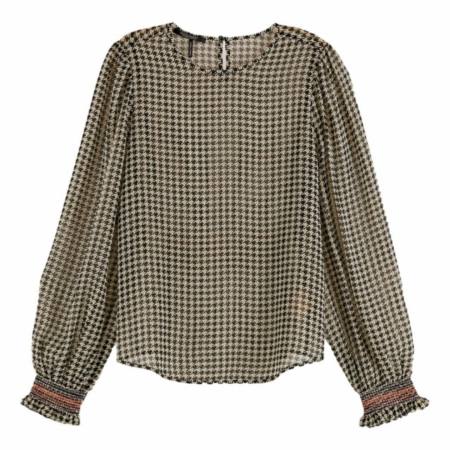 Maison Scotch - Printed Sheer Top With Smocking Details