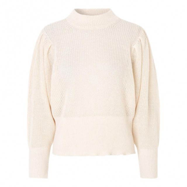 JUST - Sophy High Neck Knit - Jet Stream
