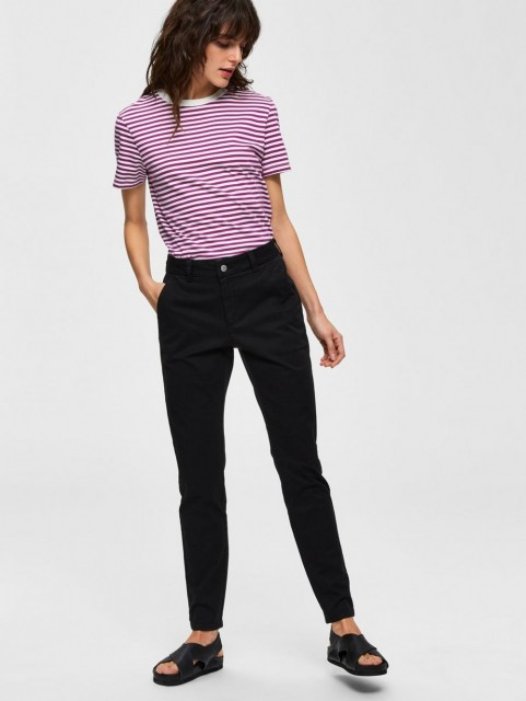 Selected Femme - Slfmegan Mw Chino Noos W - Sort