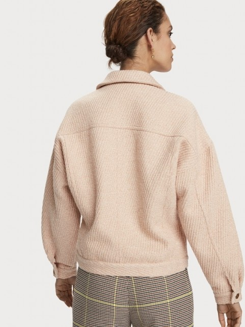 Maison Scotch - Oversized Trucker In Special Wool Mix - Pink