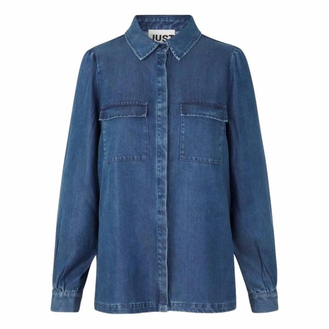 JUST - Cas Shirt - Dark Blue Denim