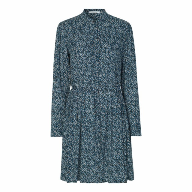 Samsøe Samsøe - Monique Shirt Dress Aop 8083 - Blue Twiggy