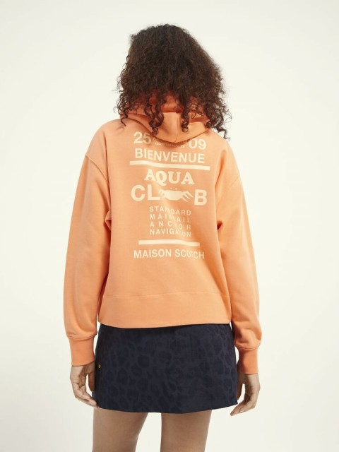Maison Scotch - Loose Fit Hoody With Graphic At Back