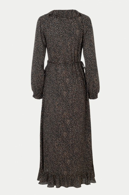 JUST - Imogene Maxi Wrap Dress - Imogene Dots